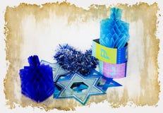 Hanukkah. Composition hanukkah celebrate on aged background Royalty Free Stock Photos