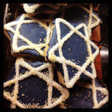 Hanukkah Cookies Stock Photography