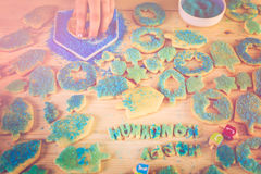 Hanukkah cookies Stock Photos