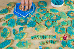 Hanukkah cookies Royalty Free Stock Image