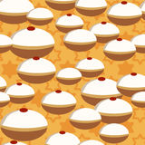 Hanukkah donuts seamless pattern Royalty Free Stock Photography