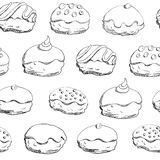 Hanukkah donuts seamless pattern Royalty Free Stock Images