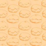 Hanukkah donuts seamless pattern Stock Image