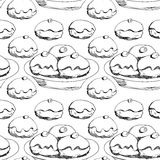 Hanukkah donuts seamless pattern Stock Images