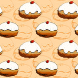 Hanukkah donuts seamless pattern Royalty Free Stock Photo