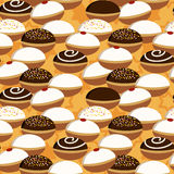 Hanukkah donuts seamless pattern Stock Photos