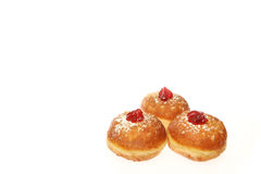Hanukkah doughnut. Traditional jewish holiday food Stock Photography