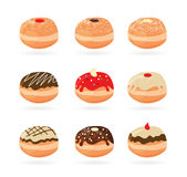 Hanukkah doughnut . Traditional jewish holiday Royalty Free Stock Photos