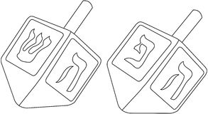 Hanukkah Dreidel Coloring Page Royalty Free Stock Photography
