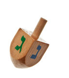 Hanukkah dreidel isolated. On a pure white background royalty free stock photography