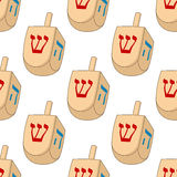 Hanukkah Dreidel Seamless Pattern Stock Photo