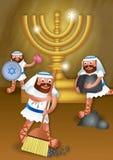 Hanukkah e il Maccabees Fotografia Stock Libera da Diritti