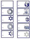 hanukkah för gåva d1 etiketter Arkivfoton