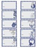 hanukkah för gåva d2 etiketter Royaltyfria Foton