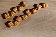 Hanukkah feliz Montón de letras comestibles Fotografía de archivo