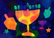 Hanukkah, festive background Stock Photos