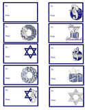 Hanukkah Gift Tags D1. Here is a collection of 10 Hanukkah themed gift tags you can use this holiday season. A blank one has been added for you to add your own royalty free illustration