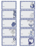 Hanukkah Gift Tags D2 Royalty Free Stock Photos