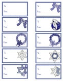 Hanukkah Gift Tags D3. Here is a collection of Hanukkah themed gift tags you can use for this holiday season. A blank tag has been added for you to add your own royalty free illustration