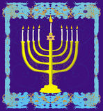 Hanukkah Greeting Card. Stock Image