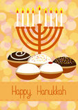 Hanukkah Greeting card Royalty Free Stock Images
