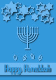 Hanukkah Greeting card Stock Photo
