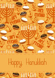 Hanukkah Greeting card Royalty Free Stock Photo