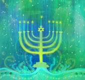 Hanukkah Greeting Card. Hanukkah Greeting Card ,raster illustration Stock Image
