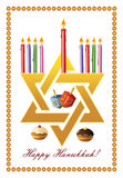 Hanukkah greeting card Stock Images