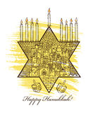Hanukkah greeting card Stock Photos