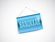 Hanukkah hanging banner illustration Royalty Free Stock Photography
