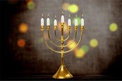 Hanukkah. Chanukah menorah hanuka c background brass stock image