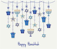 Hanukkah. Happy Hanukkah greeting card or background. vector illustration