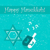 Hanukkah. Happy Hanukkah greeting card design. Vector illustration Royalty Free Stock Photos