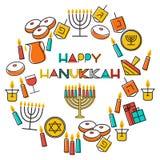 Hanukkah holiday background Stock Images