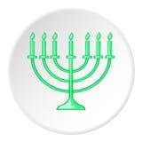 Hanukkah icon, flat style Stock Photos