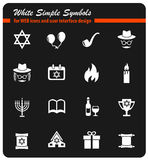 Hanukkah icon set Stock Photo