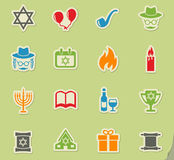 Hanukkah icon set Stock Image