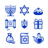 Hanukkah icons set Stock Photography