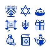 Hanukkah icons set Stock Photography