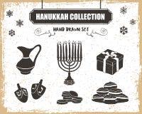 Hanukkah ikony ustawiać Fotografia Stock