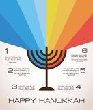 Hanukkah infographics Stock Photography