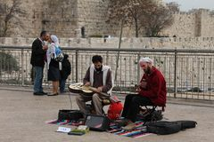 Hanukkah in Jerusalem Stock Photo