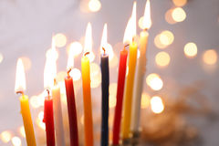 Hanukkah. The Jewish Festival of Lights stock images