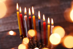 Hanukkah. The Jewish Festival of Lights Stock Photos