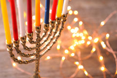 Hanukkah. The Jewish Festival of Lights stock photo