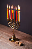 Hanukkah. The Jewish Festival of Lights Stock Photo