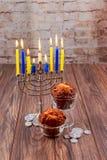 Hanukkah, the Jewish Festival of Lights  holiday. Jewish holiday Hanukkah, the Jewish Festival of Lights Royalty Free Stock Photography