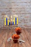 Hanukkah, the Jewish Festival of Lights holiday. Jewish holiday Hanukkah, the Jewish Festival of Lights Royalty Free Stock Photos