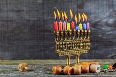 Hanukkah, the Jewish Festival of Lights. Jewish holiday hannukah , the Jewish Festival of Lights Royalty Free Stock Photos